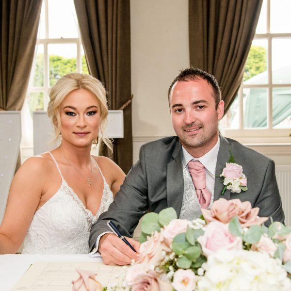 Bride and Groom Healds Hall Wedding Venue