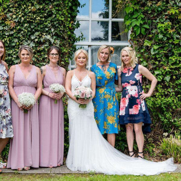 Group photograph Healds Hall Wedding Venue