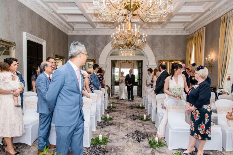 Bridal Entrance Groomsmen at Oulton Hall Wakefield