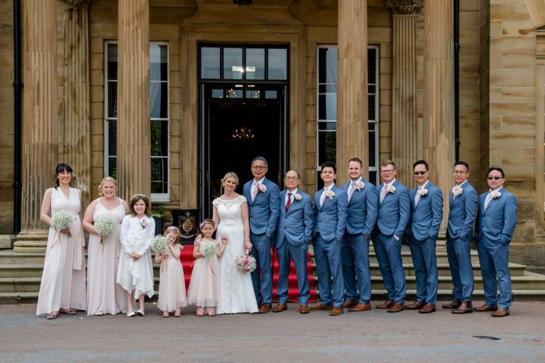 Bridesmaids and Groomsmen Groomsmen at Oulton Hall Wakefield