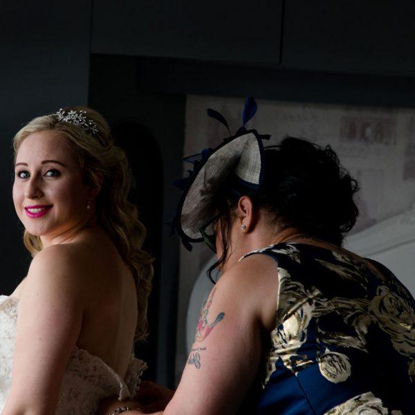 Wakefield wedding bride getting ready