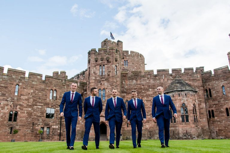 Groomsmen at Peckforton Castle
