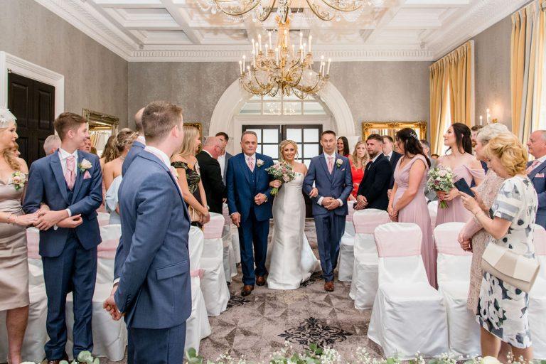 Bridal entrance at Oulton Hall Wakefield