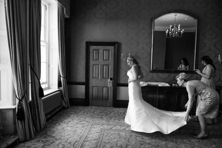 Bride getting ready at Oulton Hall Wakefield