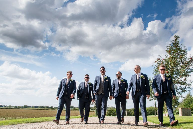 Groomsmen Priory Cottages Wedding