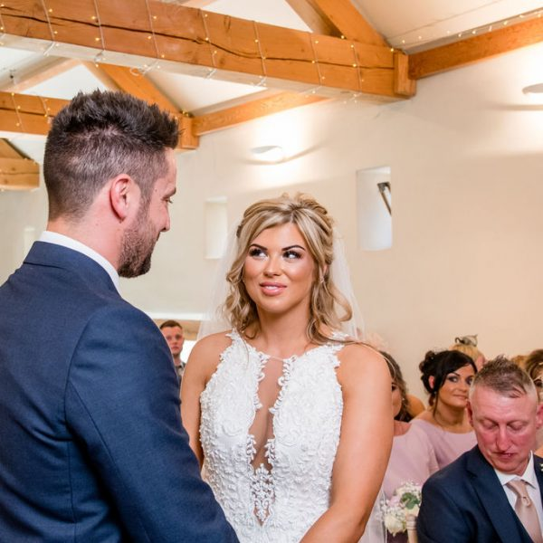 Bride and Groom Priory Cottages Wedding
