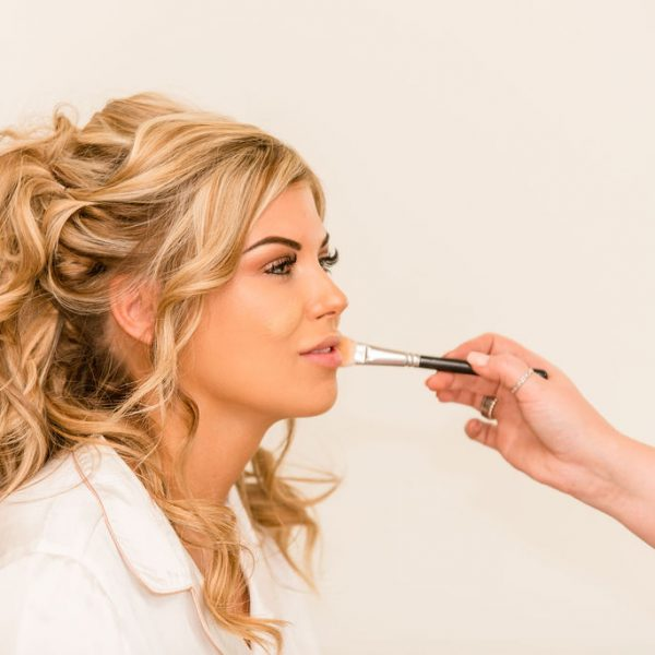 Bride getting ready at Priory Cottages Wedding