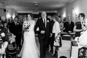 Father and Bride at Dimple Well Lodge