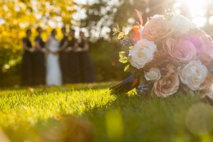 Wedding bouquet at Dimple Well Lodge