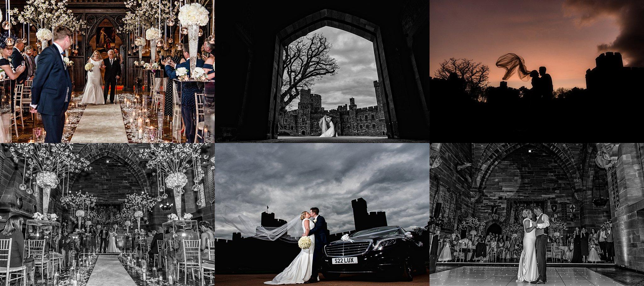 Wedding photograph at Peckforton Castle