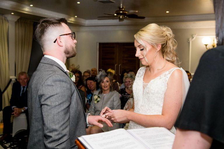 Wedding ceremony at Waterton Park Hotel Wakefield