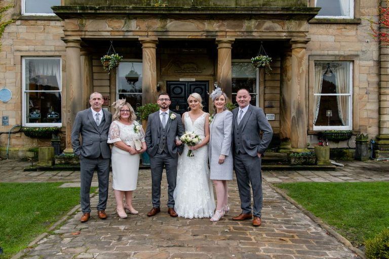 Bride Groom and Parents at Waterton Park Hotel Wakefield