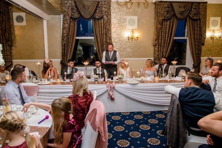 Wedding speeches at Waterton Park Hotel