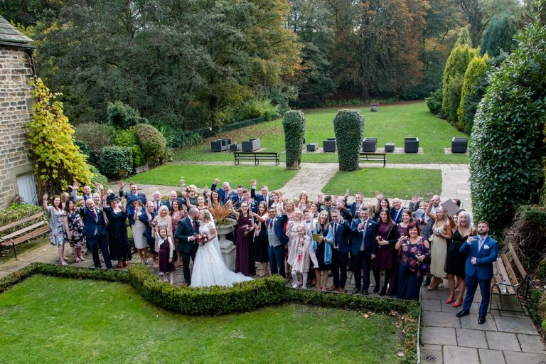 Full wedding Party at Whitley Hall