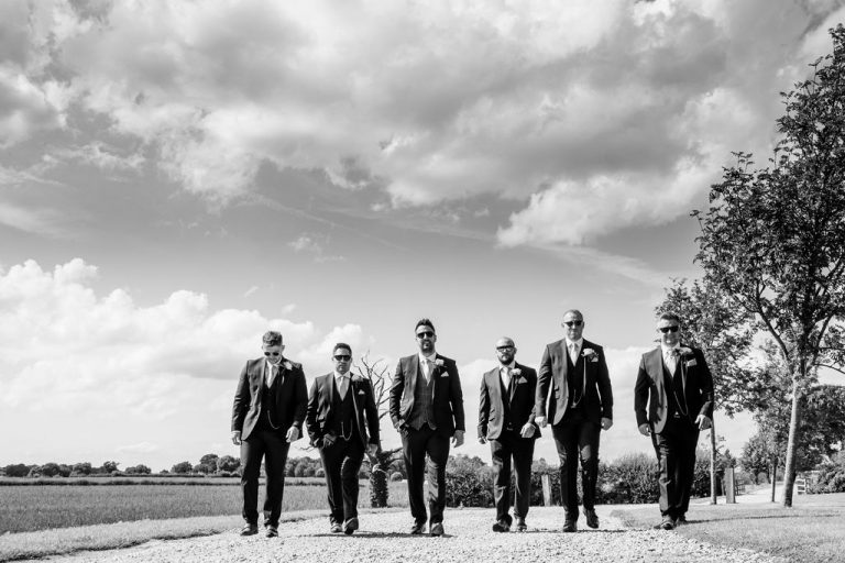 Groomsmen at Priory Cottages Wetherby