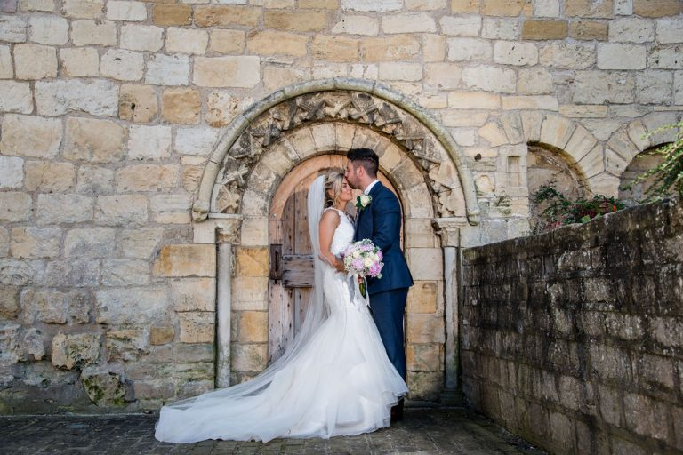 Bride and Groom at Priory Cottages