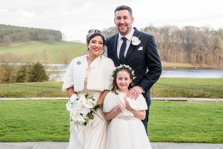 Family photo at Coniston near Skipton Wedding