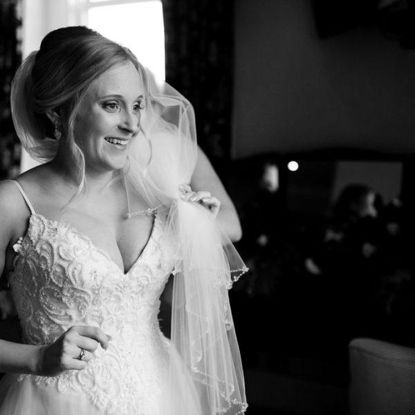 Bride getting ready at Waterton Park Wakefield