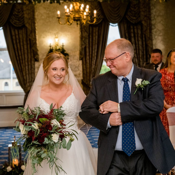 Bride and Father at Waterton Park Wakefield