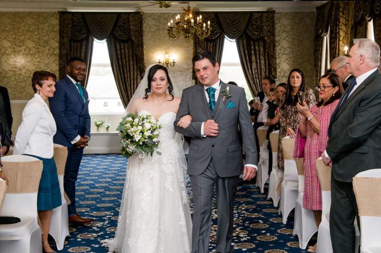 Bridal entrance at Waterton Park wedding