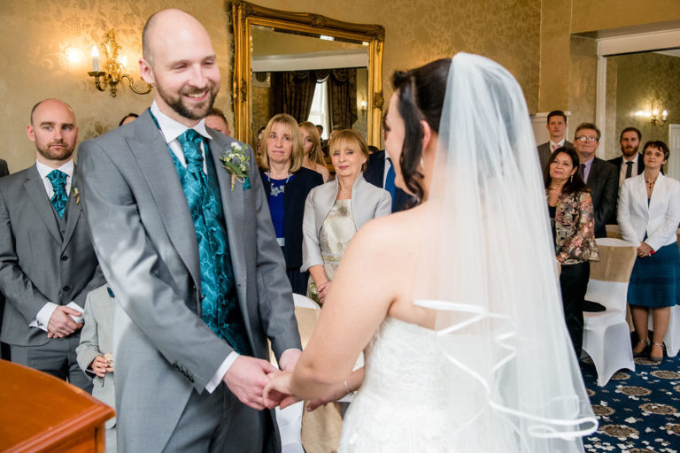 Wedding ceremony at Waterton Park wedding
