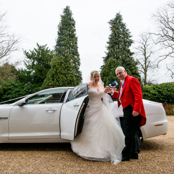 Bride arrival at Bawtry Hall