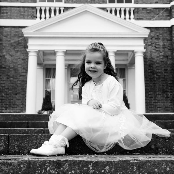 Flower girl at Bawtry Hall
