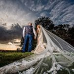Long veil at Hornington Manor Wedding
