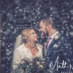 Wedding photograph in the snow at Waterton Park